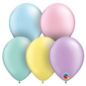 "5 inch Pearl Assortment Balloons - Qualatex 5"" Balloons 100pcs 